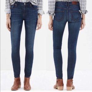 "Madewell 9"" Skinny High Rise F8990 Jeans 25"